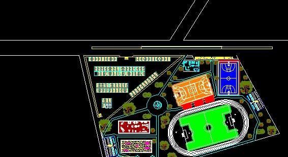 plano de un parque
