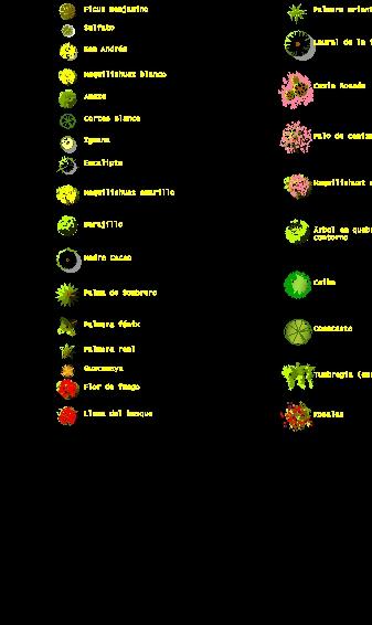 Bloque Arboles en color