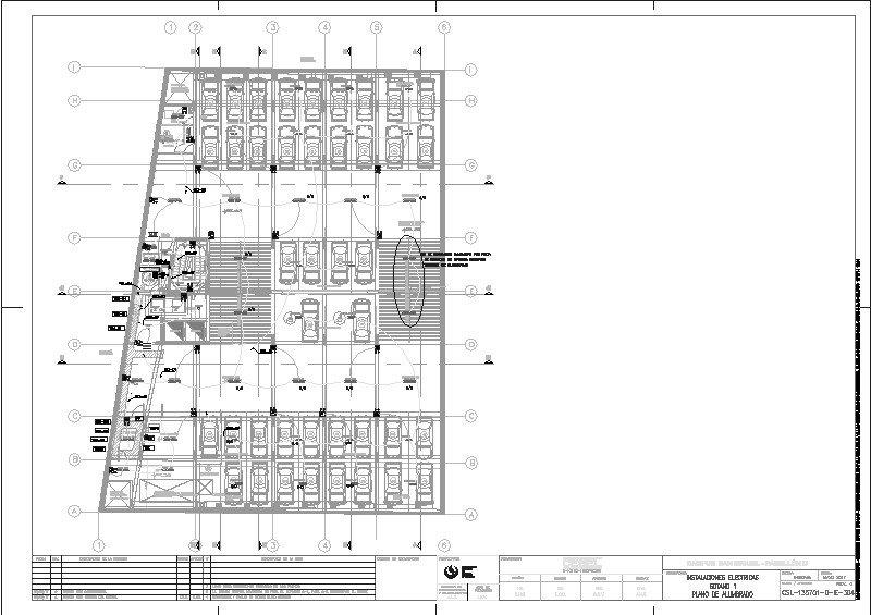 Plano Iluminacion Led Estacionamientos UPC Lima