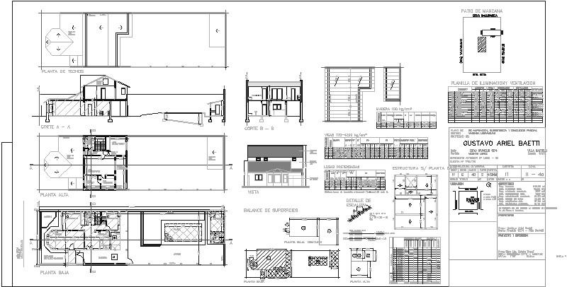 Plano Casa con Pileta