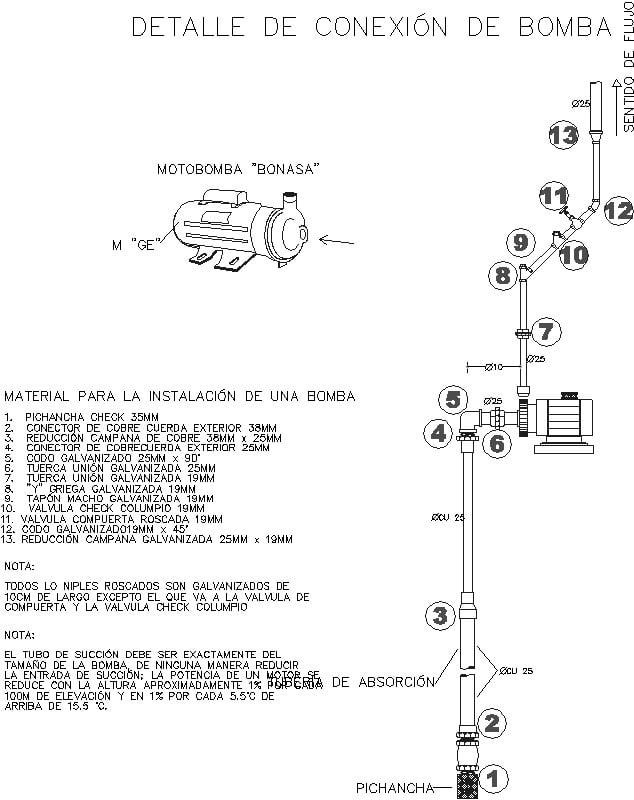 instalacion de bomba hidraulica