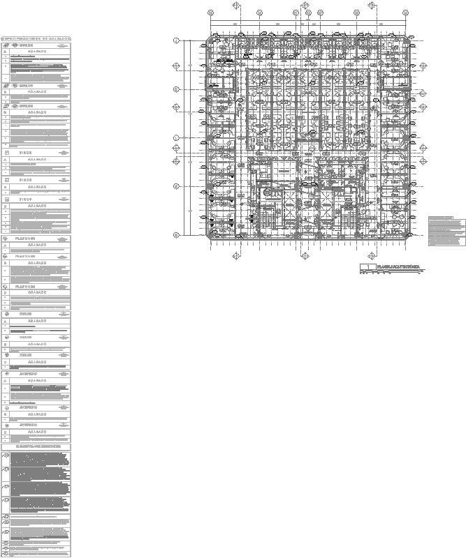 plano de acabados y tabla de especificación completa