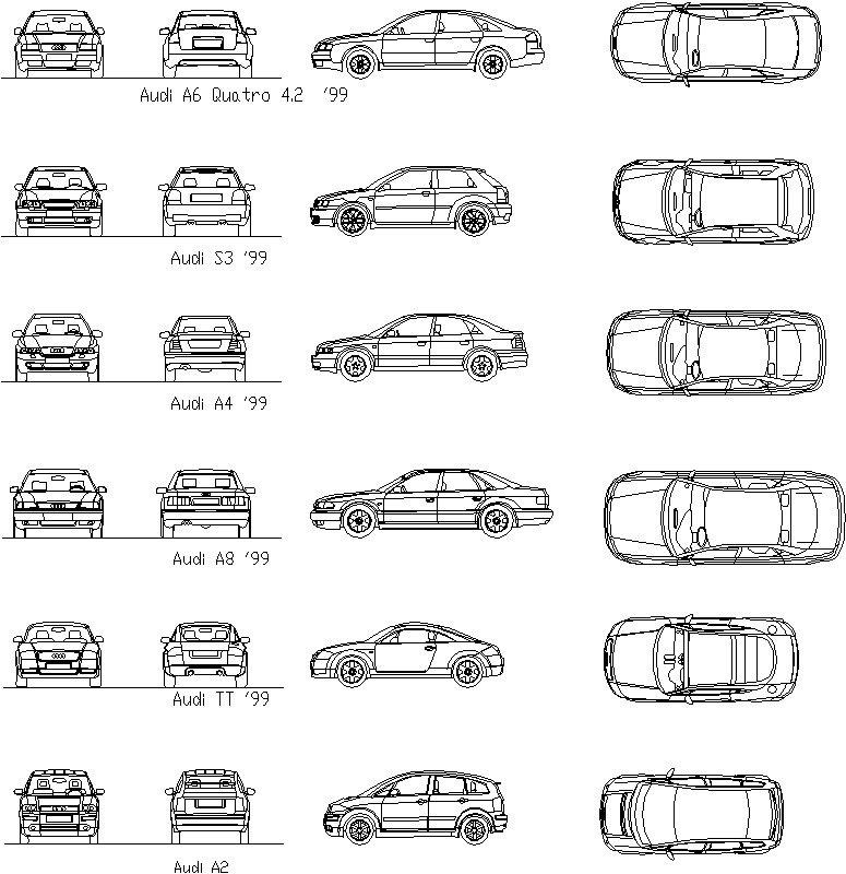 Bloque de automóvil Audi 99