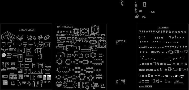 utileria mobiliario para planos