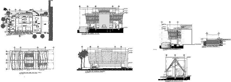 Planos De Villa De Hotel (techo De Palapa