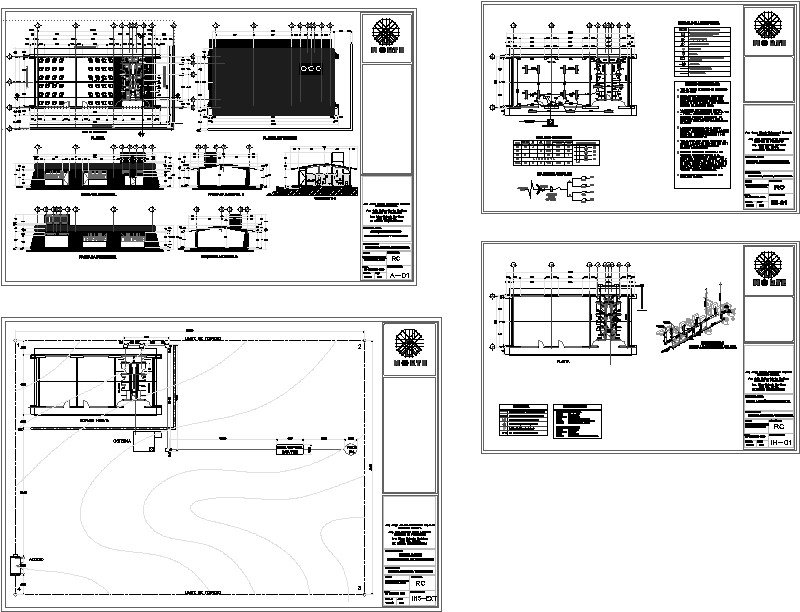 planos de aulas tipo inifech estructura rc