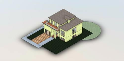 Casa Habitación en Revit
