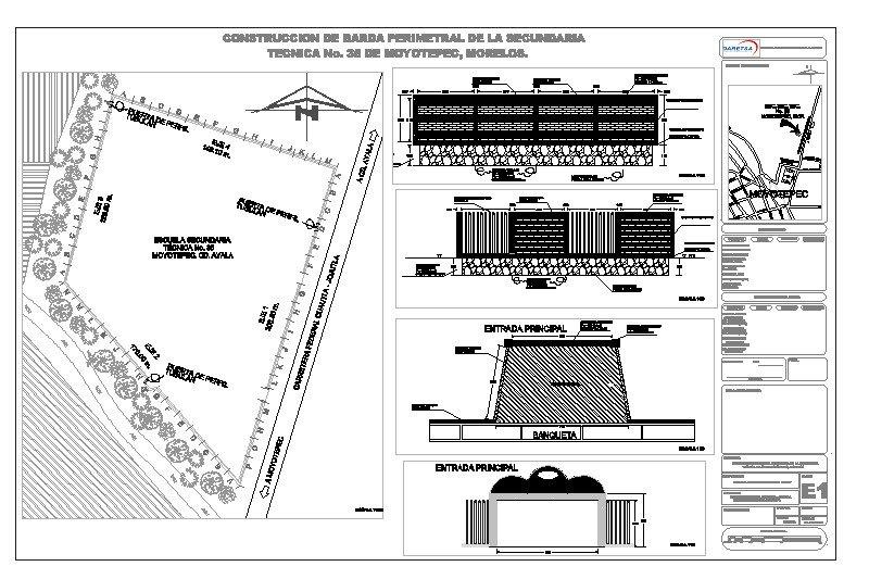 Barda Perimetral Secundaria Tecnica No. 35