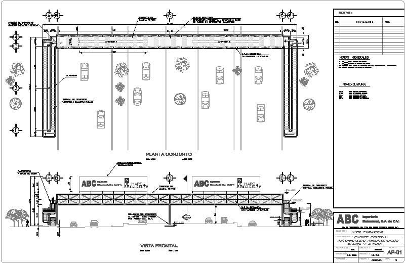 puente peatonal de estructura