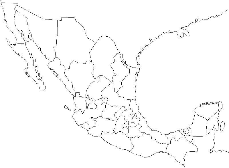 mapa a de mexico dwg