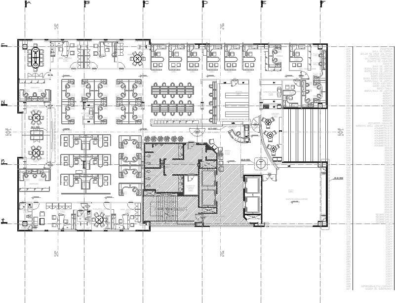 Plnta Arquitectonica De Oficinas