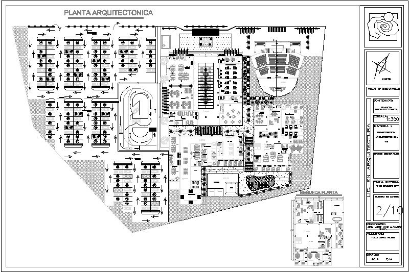 Plano arquitectonico de secretaria de movilidad