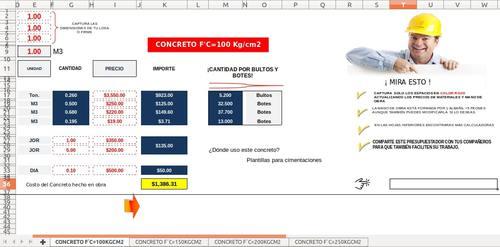 Calculadora Para Concretos Por Saco Y M3