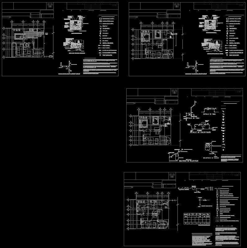 isometrico de una casa con instalaciones hidraulicas