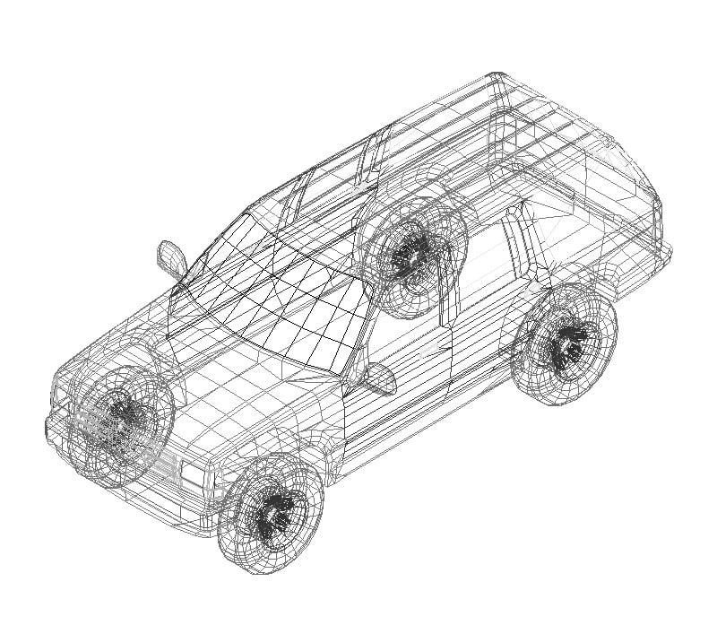 camioneta ford explorer en 3d