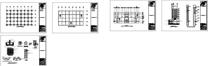 plano estructural con zapatas aisladas