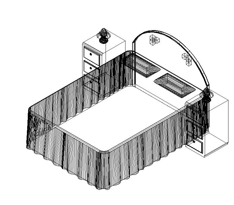 cama matrimonial y otros muebles de recámara