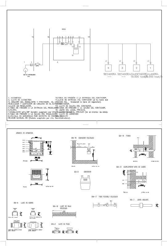 instalación de gas natural para lavandería
