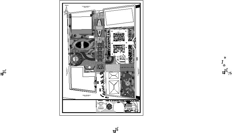 planta de conjunto de parque urbano