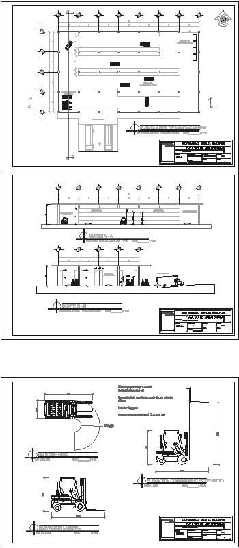 planta de uso de montacargas