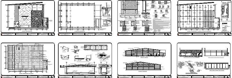 plano estructural de una bodega