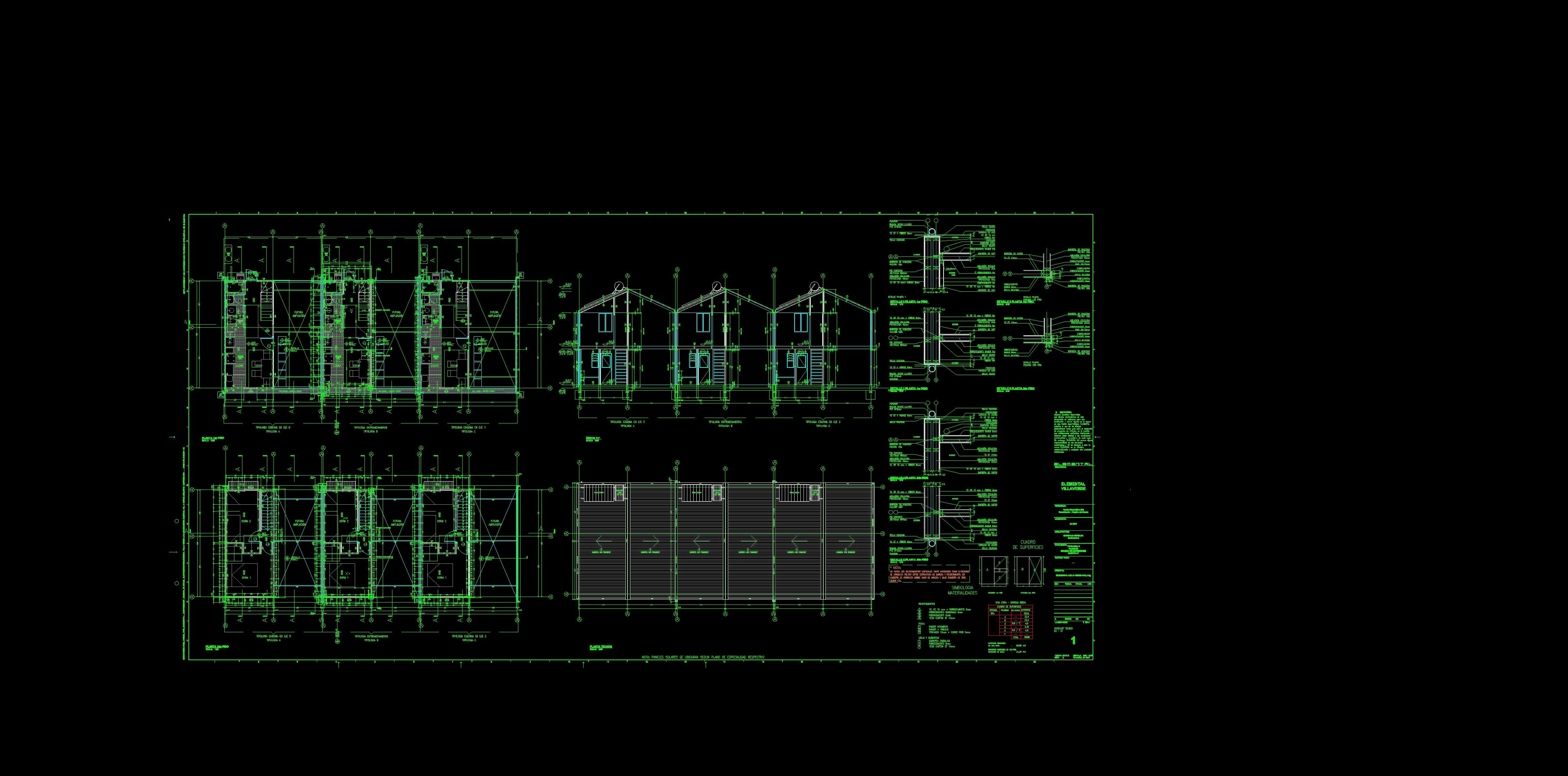 Proyecto de Aravena: Planos Arquitectónicos de VILLAVERDE por Aravena