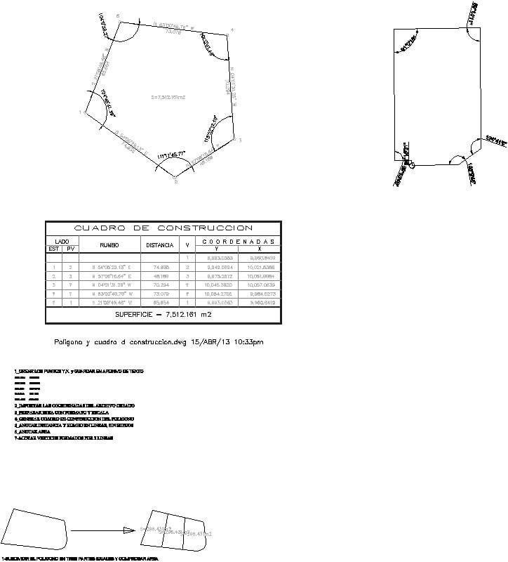 poligono y cuadro de construccion