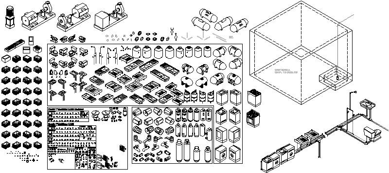 bloques de isometrico de muebles