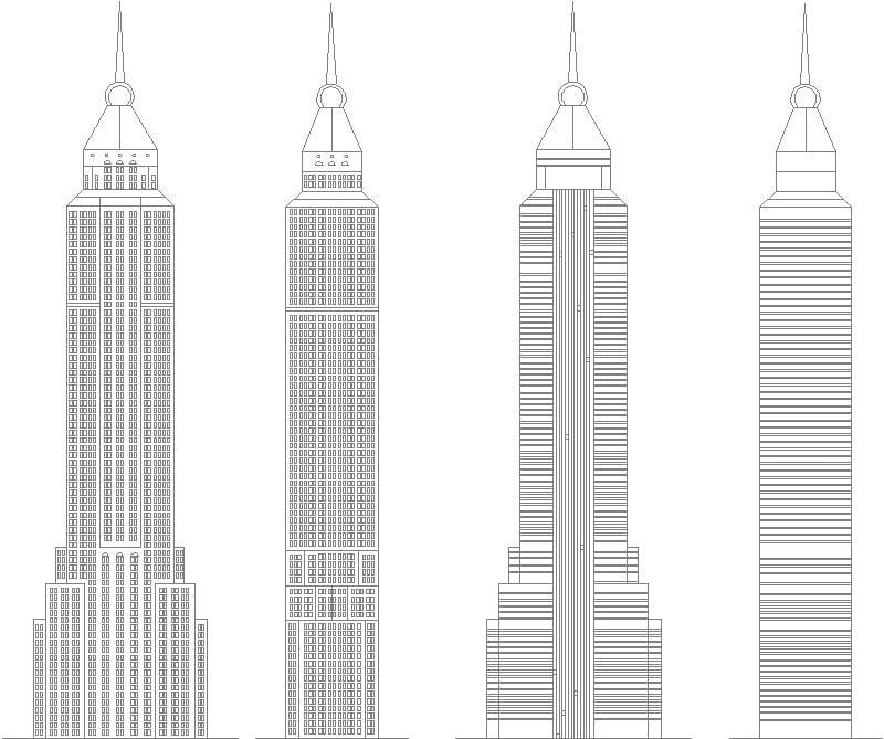 Fachadas del edificio Empire State Building