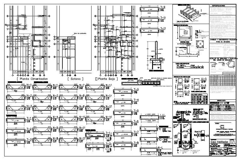 plano estructural