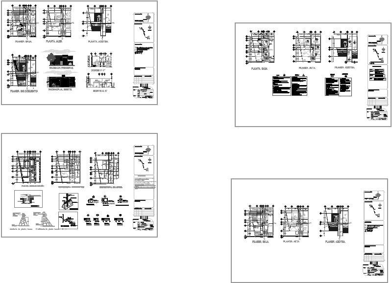 Planta arquitectónica de cabaña