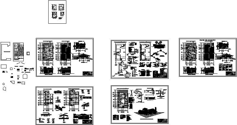 planos de una casa ecológica rural