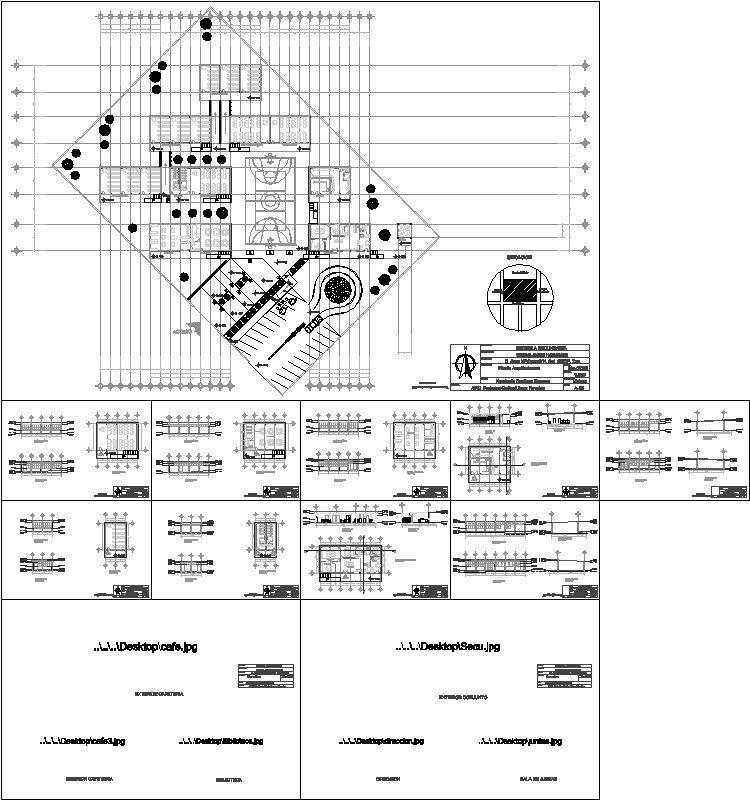 planos de Escuela Secundaria dwg