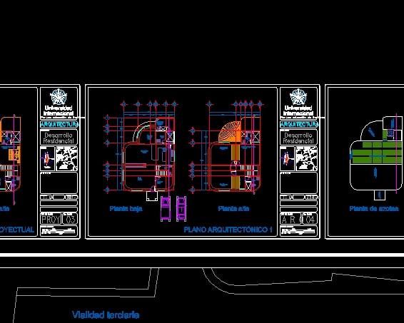 Plano Arquitectónico, casa habitación y plano de condominio