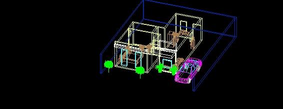 casa habitacion 3d