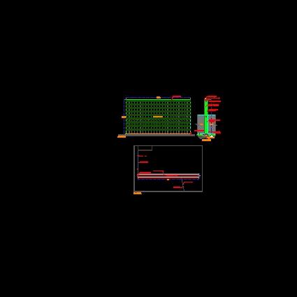 descarga gratis detalle de muro verde planos y bloques
