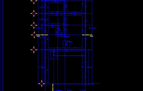 Plano de cimentacion de una casa