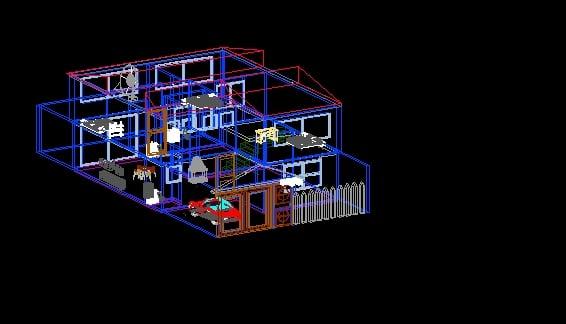 modelado casa en 3D