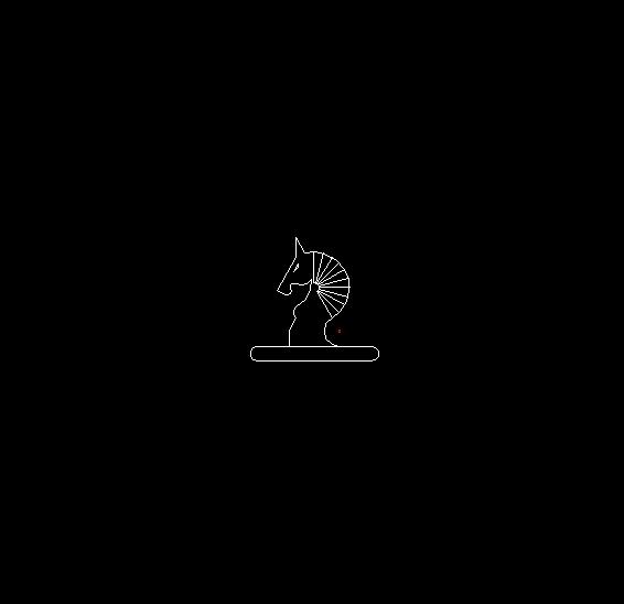 Pieza de ajedrez caballo