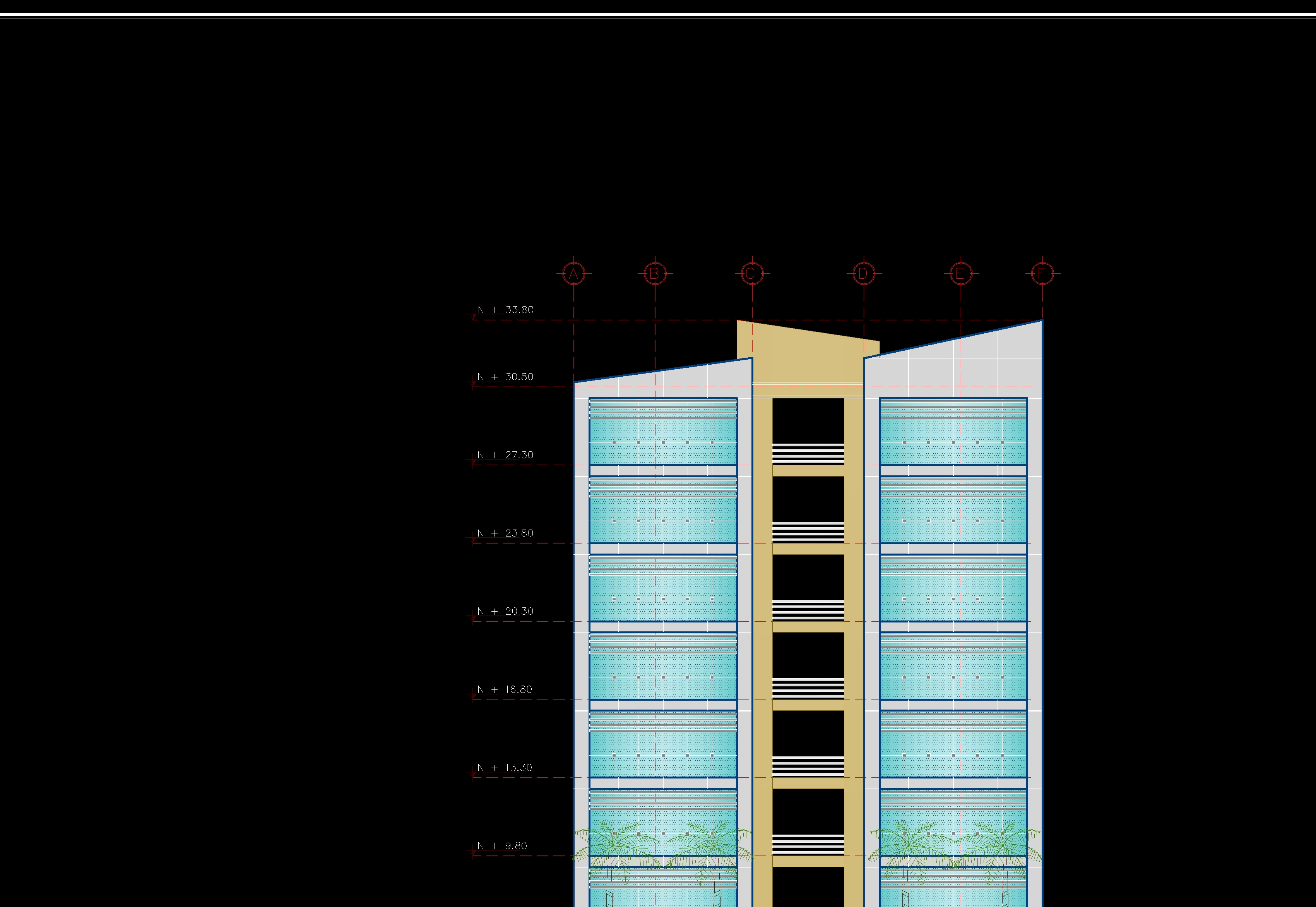 plantas de edificio de departamentos multifamiliares