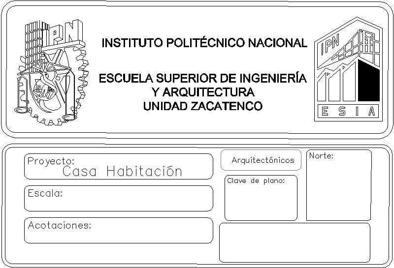 Membrete De Ipn Esia