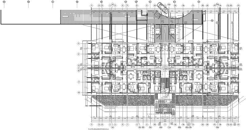Planta Baja Edificio Departamentos, 10 Niveles