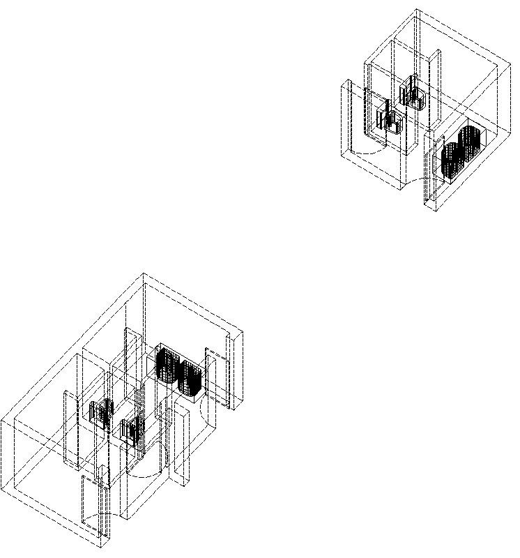 Axonometría de Baños