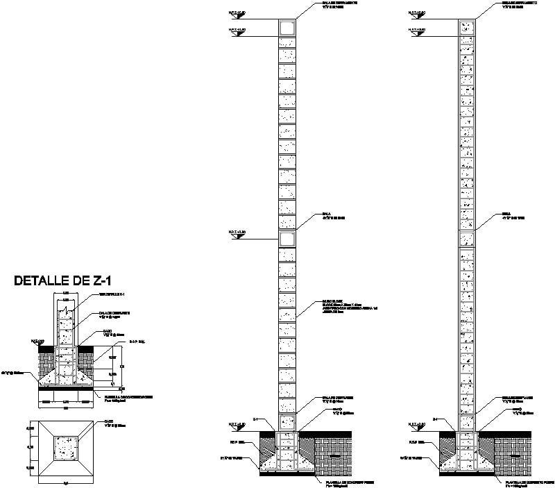 Detalle Constructivo De Zapata Aislada