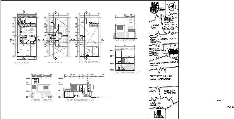 Proyecto de Residencia de dos pisos
